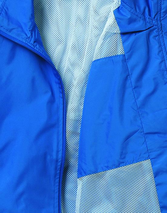 MJ0052アスレチックブルゾンの左胸裏アップ画像