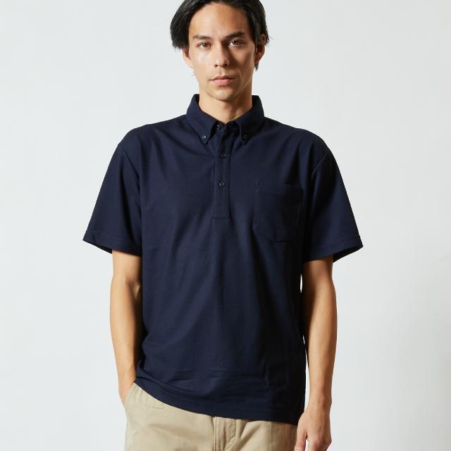 2023-01スペシャルドライ鹿の子ポロシャツ(ポケ付ボタンダウン)のアイキャッチ画像