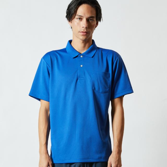 5911-01ドライアスレチックポロシャツ(ポケ付)のアイキャッチ画像